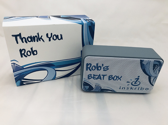 Personalized bluetooth speaker and packaging